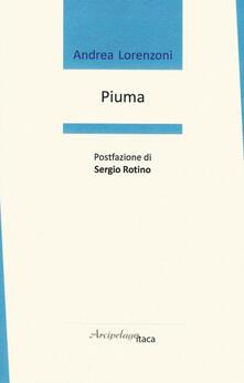 Piuma - Andrea Lorenzoni - copertina