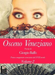 Osceno Veneziano - Giorgio Baffo - ebook