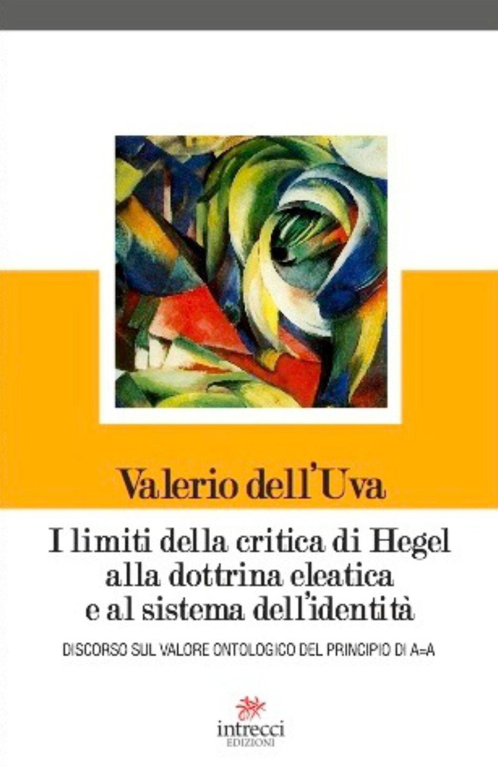 I limiti della critica di Hegel alla dottrina eleatica e al sistema dell'identità. Discorso sul valore ontologico del principio di A=A