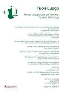 Fuori luogo. Rivista di sociologia del territorio, turismo, tecnologia (2018). Vol. 1 - copertina