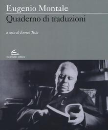 Quaderno di traduzioni - Eugenio Montale - copertina