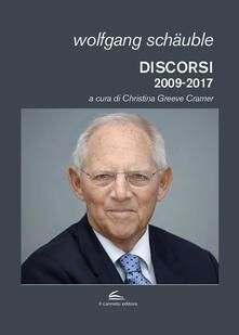 Discorsi (2009-2017) - Wolfgang Schäuble - copertina