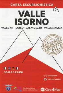 Warholgenova.it Carta escursionistica valle Isorno. Scala 1:25.000. Ediz. italiana, inglese, tedesca e francese. Vol. 12: Valle Antigorio, Val Vigezzo, Valle Maggia. Image