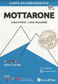 Secchiarapita.it Carta escursionistica Mottarone. Scala 1:25.000. Ediz. italiana, inglese, tedesca e francese. Vol. 17: Lago d'Orta, Lago Maggiore. Image