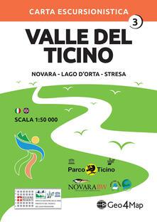 Carta escursionistica Valle del Ticino. Scala 1:50.000. Ediz. italiana, inglese, tedesca e francese. Vol. 3: Novara, Lago dOrta, Stresa..pdf