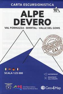 Daddyswing.es Carta escursionistica Alpe Devero. Val Formazza, Binntal, Valle di Goms 1:25.000 Image