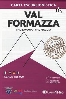 Amatigota.it Carta escursionistica Val Formazza, Val Bavona, Val Maggia 1:25.000 Image