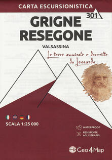 Winniearcher.com Carta escursionistica gruppo delle Grigne. Val Sassina-Monte Resegone. Scala 1:25.000. Ediz. italiana, inglese, tedesca e francese Image