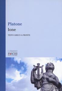 Libro Ione. Testo greco a fronte Platone
