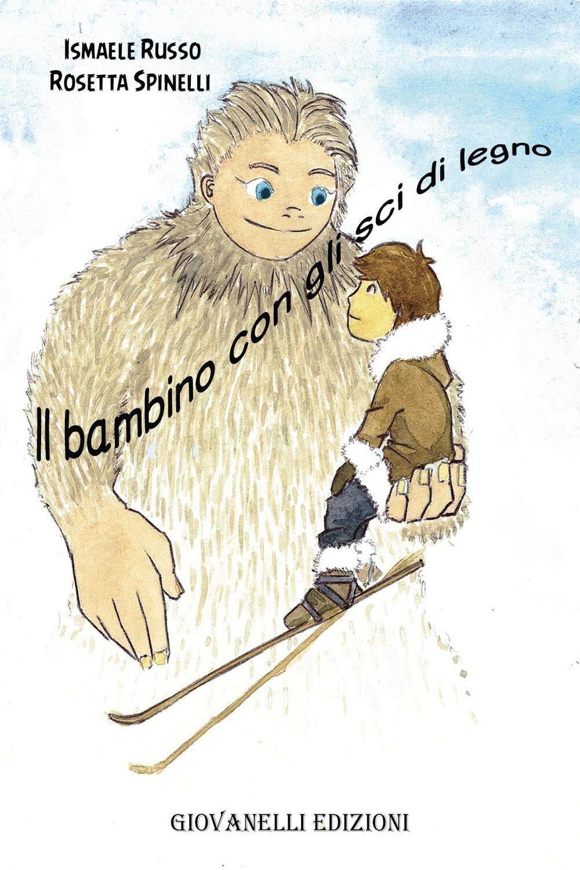 Il bambino con gli sci di legno