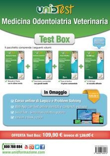 Listadelpopolo.it Test box medicina odontoiatria veterinaria: Manuale di teoria-Eserciziario commentato-Prove di verifica-12.000 quiz. Con aggiornamento online. Con app. Con e-book. Con software di simulazione Image
