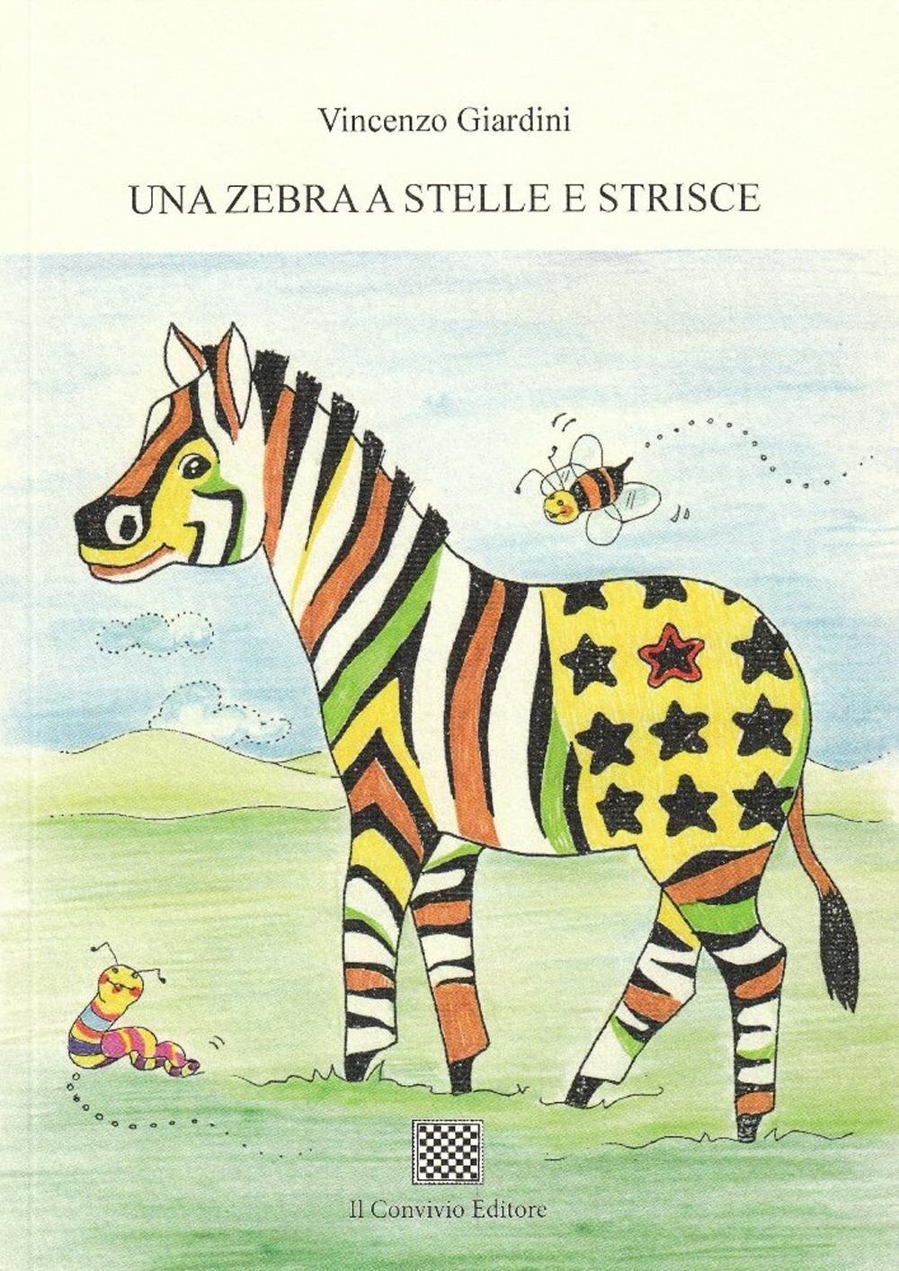 Una zebra a stelle e strisce