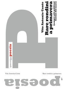 Rare rondini a primavera (sempre più gabbiani lontani dal mare) - Vito Antonio Conte - copertina