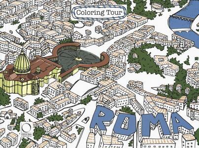 Roma. Coloring tour