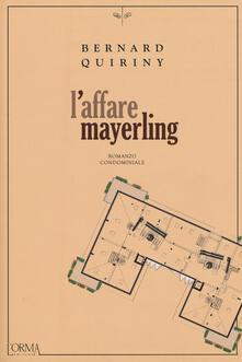 L' affare Mayerling - Bernard Quiriny - copertina