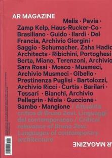 Filippodegasperi.it AR magazine. Vol. 120: Attualità critica di Bruno Zevi. Linguaggi del contemporaneo. Image