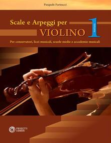 Milanospringparade.it Scale e arpeggi per violino. Vol. 1 Image