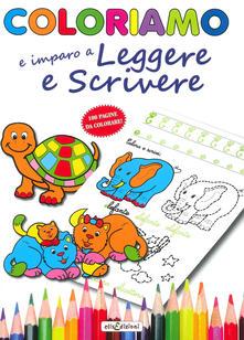 Daddyswing.es Coloriamo io imparo a leggere e a scrivere. Ediz. illustrata Image