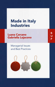 Parcoarenas.it Made in Italy industries. Managerial issues and best practices Image