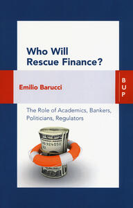 Who will rescue finance? - Emilio Barucci - copertina