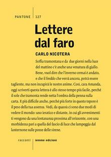 Lettere dal faro - Carlo Nicotera - copertina
