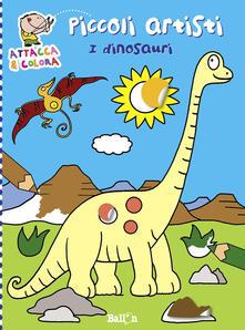 Criticalwinenotav.it I dinosauri. Piccoli artisti. Album con stickers. Ediz. illustrata Image