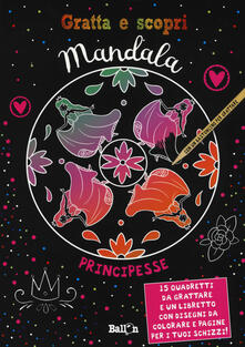 Winniearcher.com Principesse. Mandala gratta e scopri. Ediz. illustrata. Con gadget. Con 15 Carte Image
