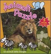 Gli animali della giungla. Animali puzzle