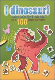 Premioquesti.it I dinosauri. Gioca, attacca e colora. Verde. Con adesivi Image