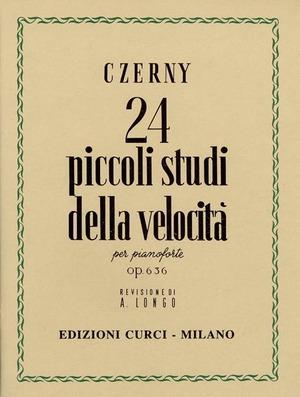 24 piccoli studi della velocità Op. 636. Per pianoforte. Spartito. Metodo