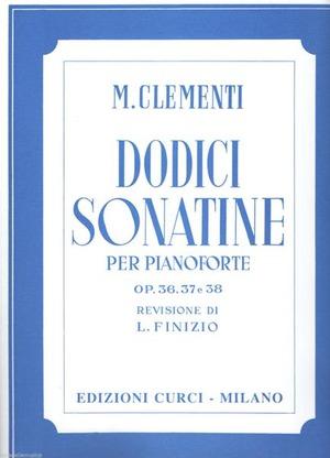 12 sonatine Op. 36, 37, 38. Per pianoforte. Spartito