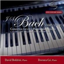Concerti per due pianoforte e archi - CD Audio di Johann Sebastian Bach,Davide Boldrini,Dorotea Cei